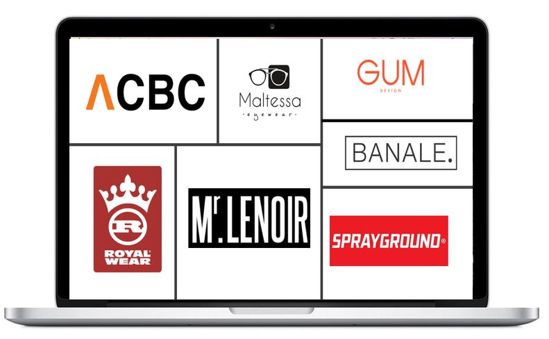 Les marques représentées par l'agence TFLG